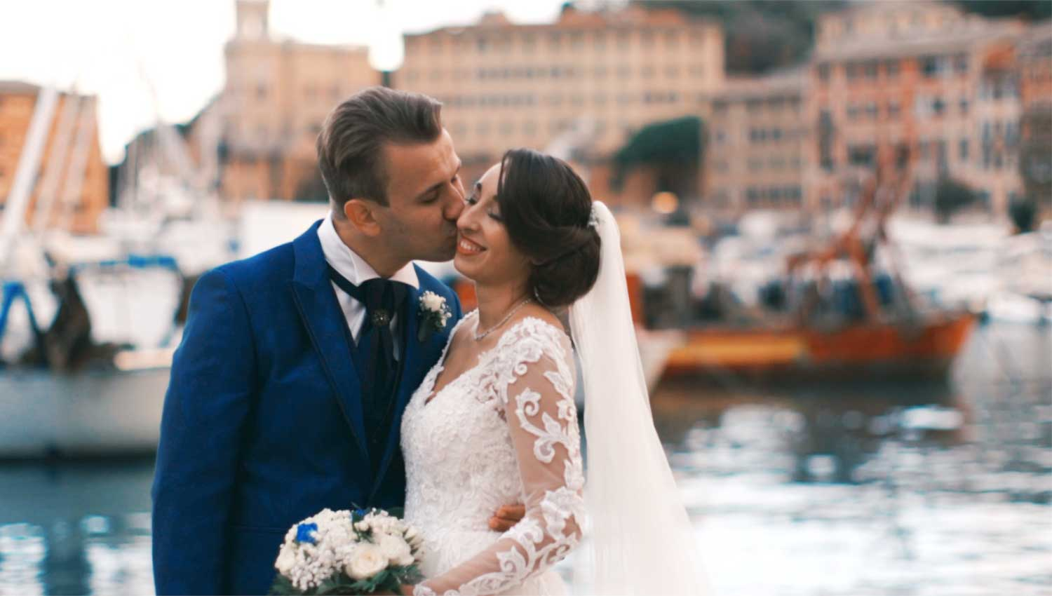 Wedding in Santa Margherita Ligure, Italy, video by White & Movie
